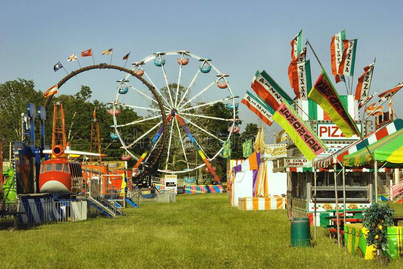 Carnival. Midway on Small Town Carnival stock image