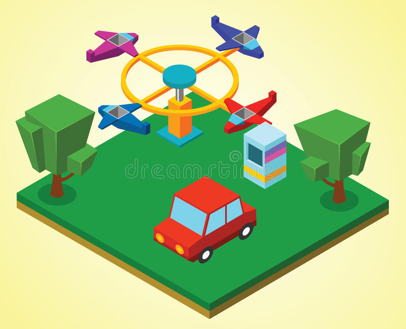 Carnival airplanes vector illustration