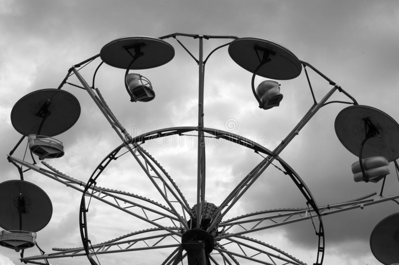 Carnival in B&W royalty free stock photos