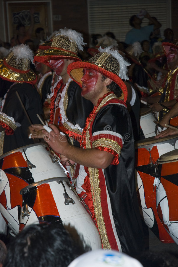 Carnival band in Montevideo, Uruguay, 2008. royalty free stock photos