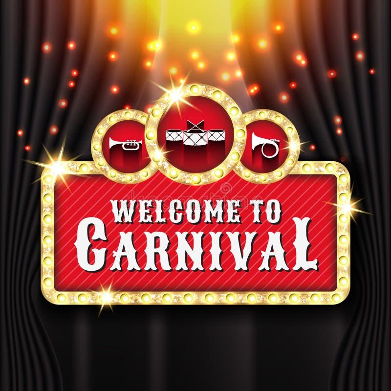Free Carnival Banner Background Design With Light Bulb Frame Stock Image - 108709271