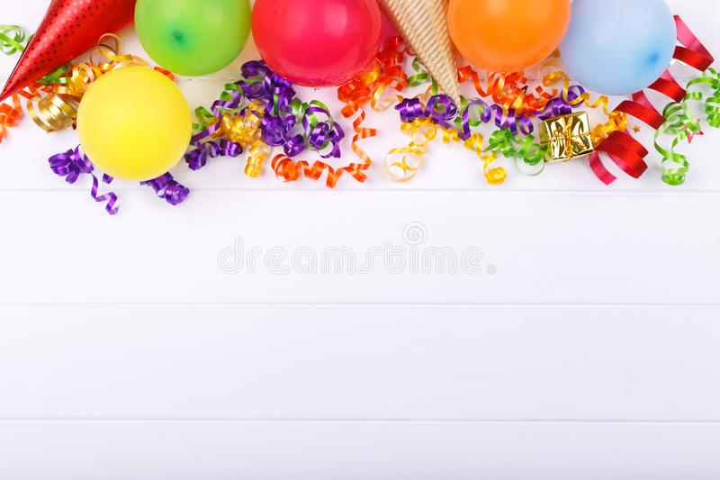 Carnival or birthday party items stock images