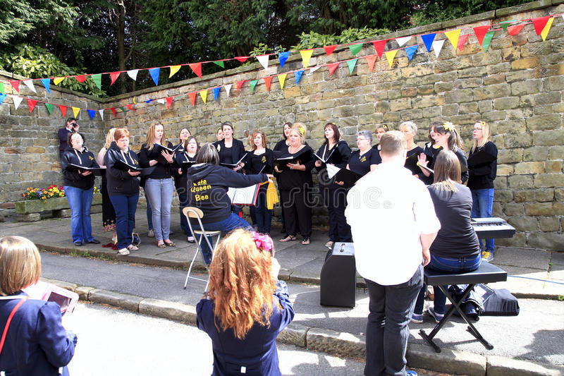 Carnival choir, Derbyshire. stock photos