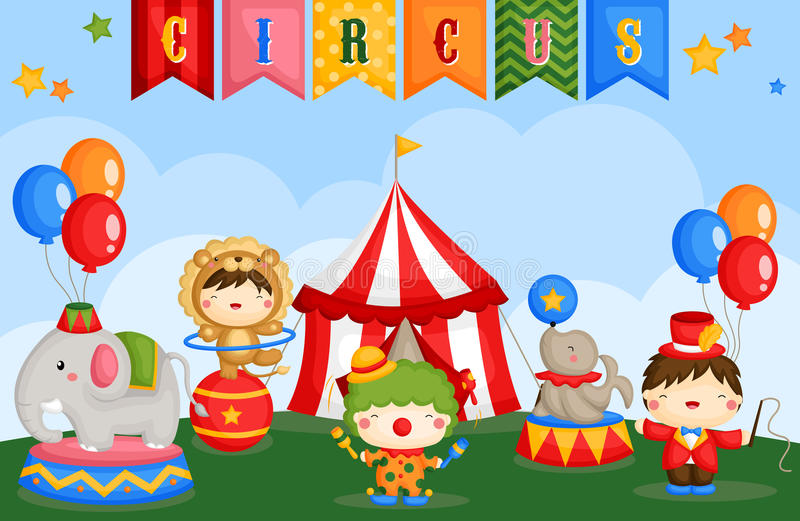 Carnival circus day stock illustration