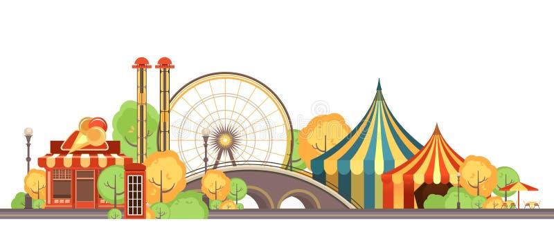 Carnival City Park royalty free illustration