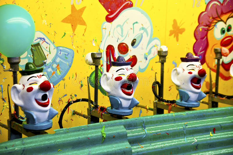 Carnival clown game stock photography