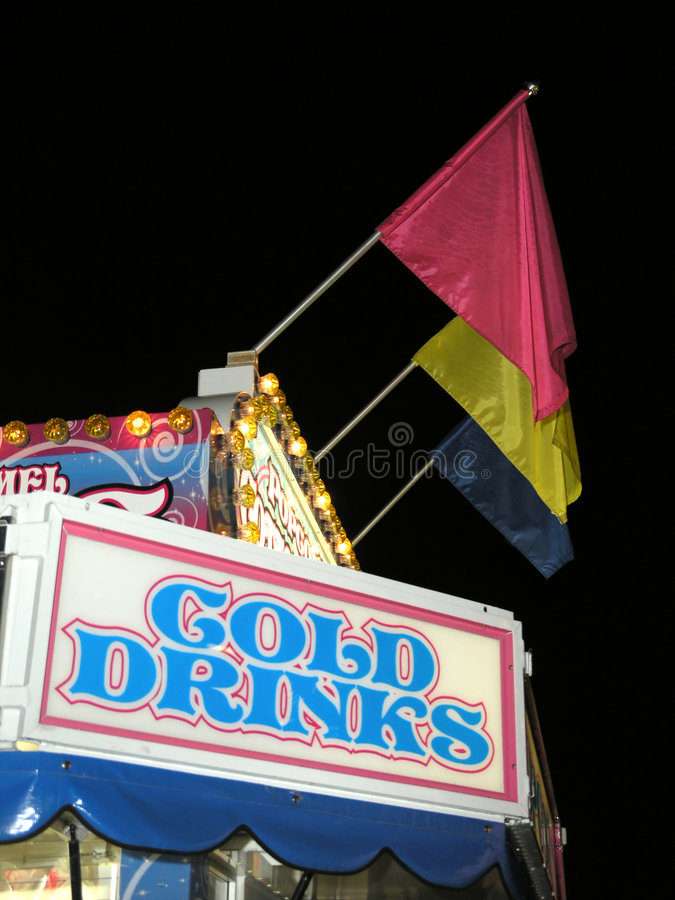 Carnival Concession Drinks. Carnival Concession Stand with Cold Drinks royalty free stock images