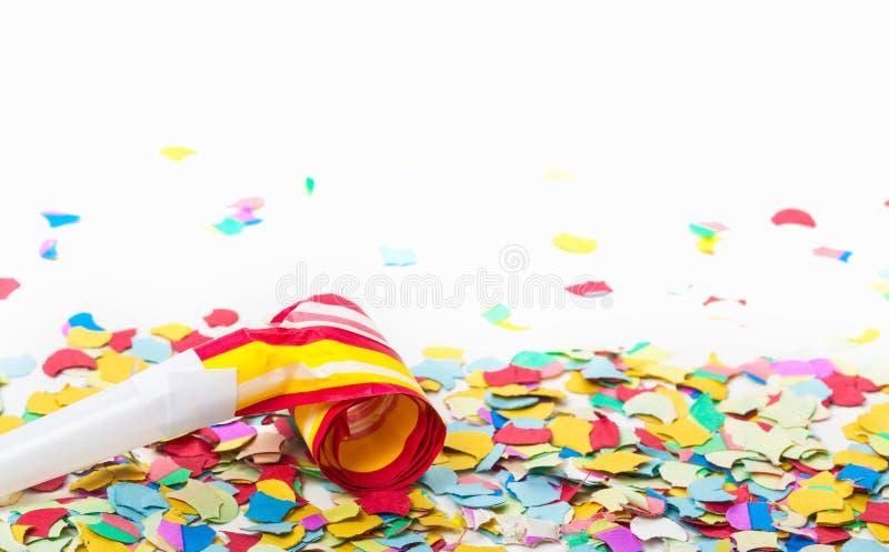 carnival confetti trumpet stock image image of masquerade year 50100205. Black Bedroom Furniture Sets. Home Design Ideas