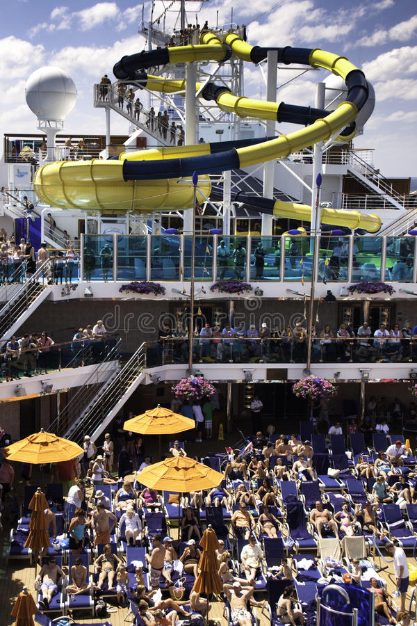 Download Carnival Cruise Ship Water Slide Fun! Editorial Photography - Image: 15888337