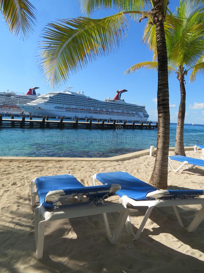 Carnival Cruise Ships Docked In Cozumel, Mexico