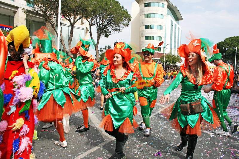 Carnival in Cyprus stock photography