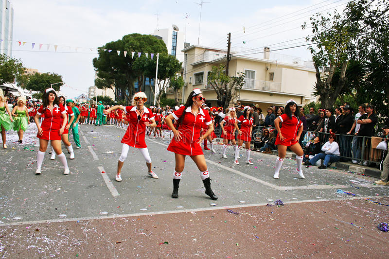 Carnival in Cyprus royalty free stock photo