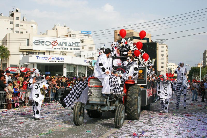 Carnival in Cyprus royalty free stock image