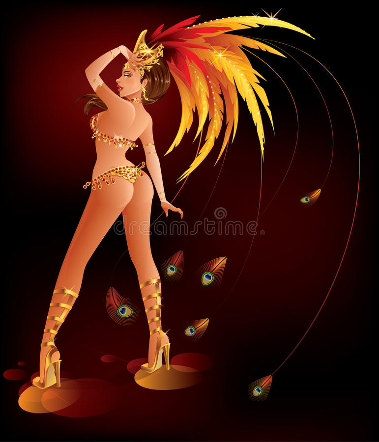 Carnival Dancer vector illustration