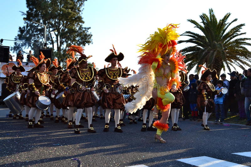 Carnival of Figueira da Foz conquerors stock photo