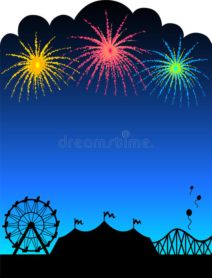Download Carnival Fireworks Background/eps Stock Vector - Illustration of graphic, flags: 9759724