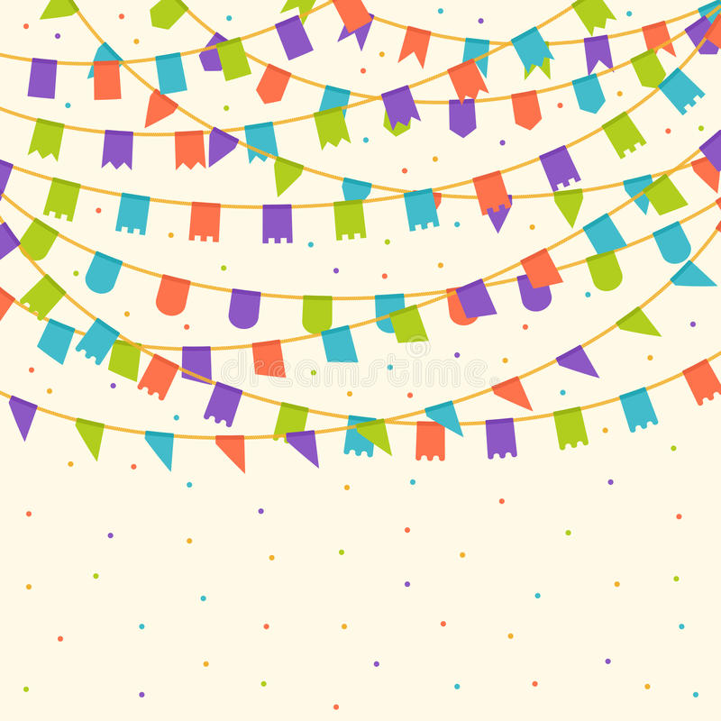 Carnival flags royalty free illustration