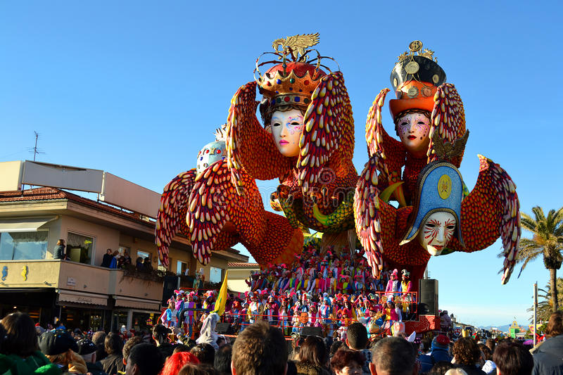 Carnival float, Viareggio royalty free stock image