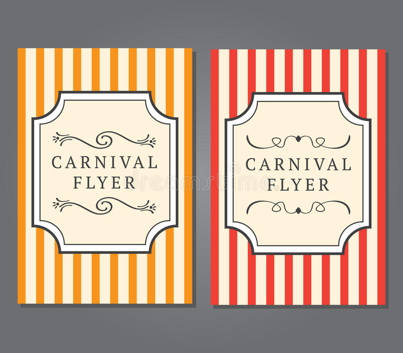carnival flyer template stock image image of holidays 69365473
