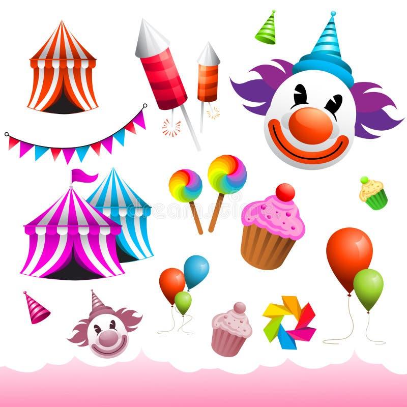 Carnival & Funfair Elements royalty free illustration