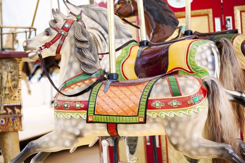 Carnival horses stock image