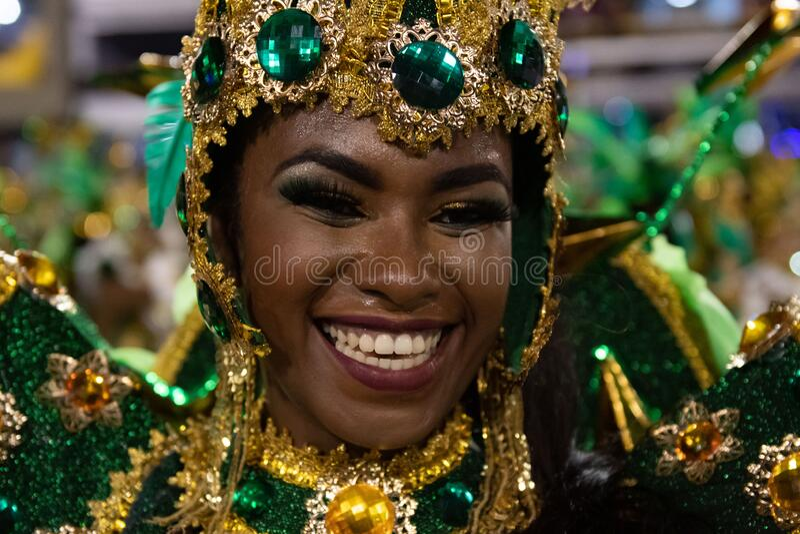 Carnival 2020 - Inocentes de Belford Roxo royalty-vrije stock afbeelding