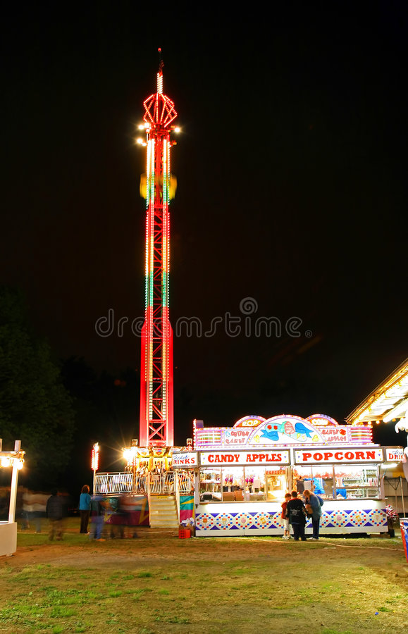 Carnival lights at night royalty free stock images