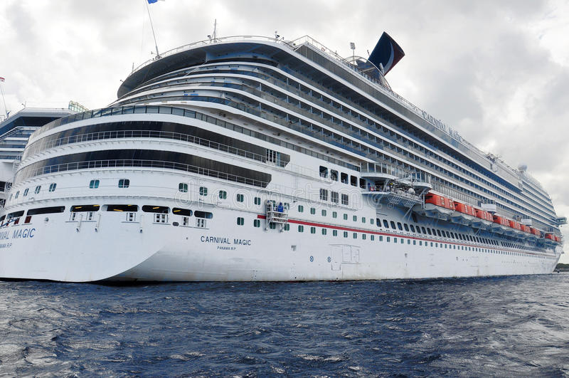 Carnival Magic. Cruis ship in Cozumel, Mexico royalty free stock photo