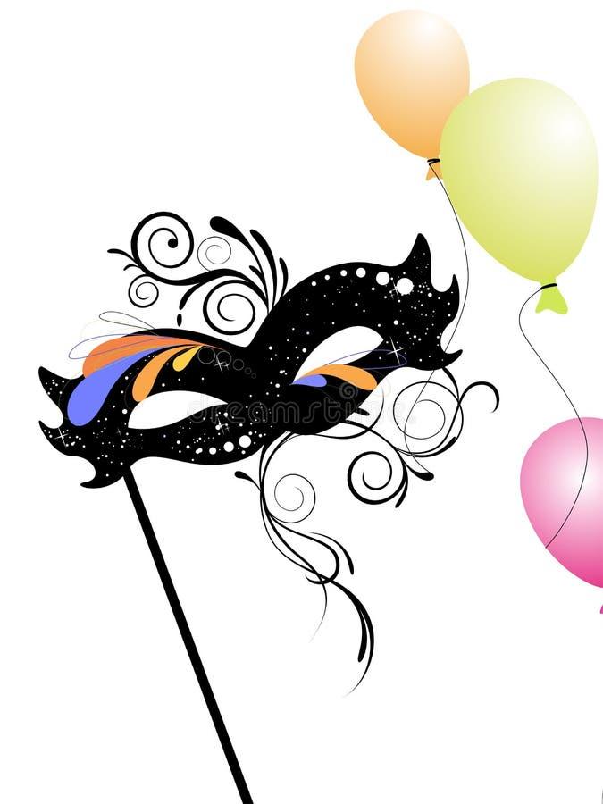 Carnival mask royalty free illustration