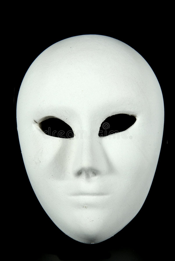 Carnival mask. Some white original venetian carnival masks royalty free stock photography
