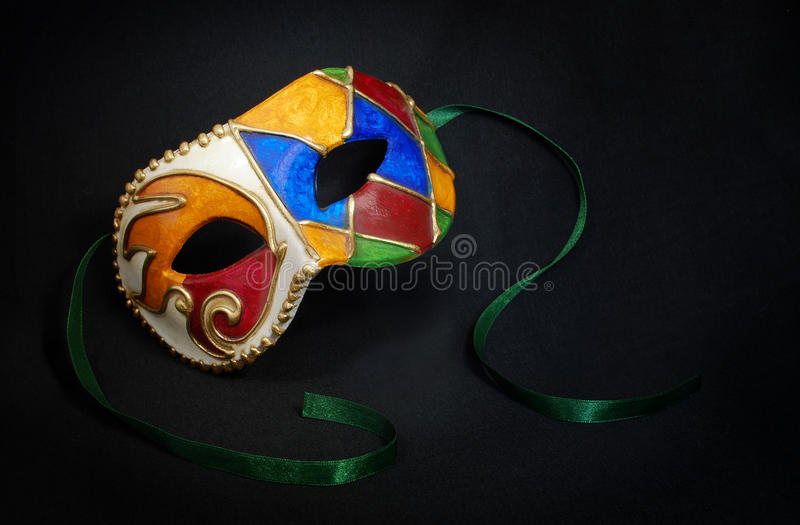 Carnival mask. Multicolor carnival mask made in Venice stock images
