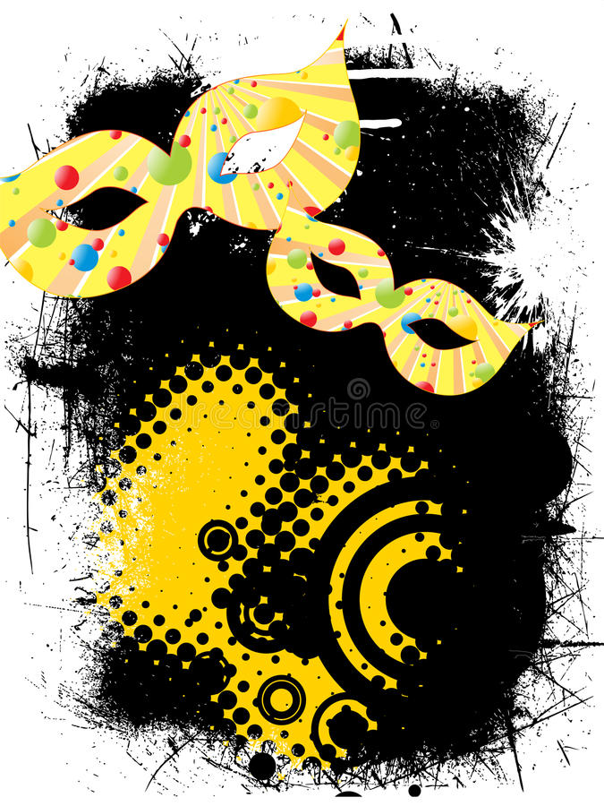 Download Carnival mask stock illustration. Image of performance - 28659261