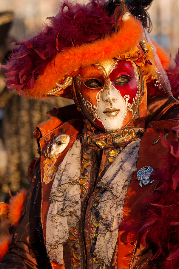 Carnival mask in foreground