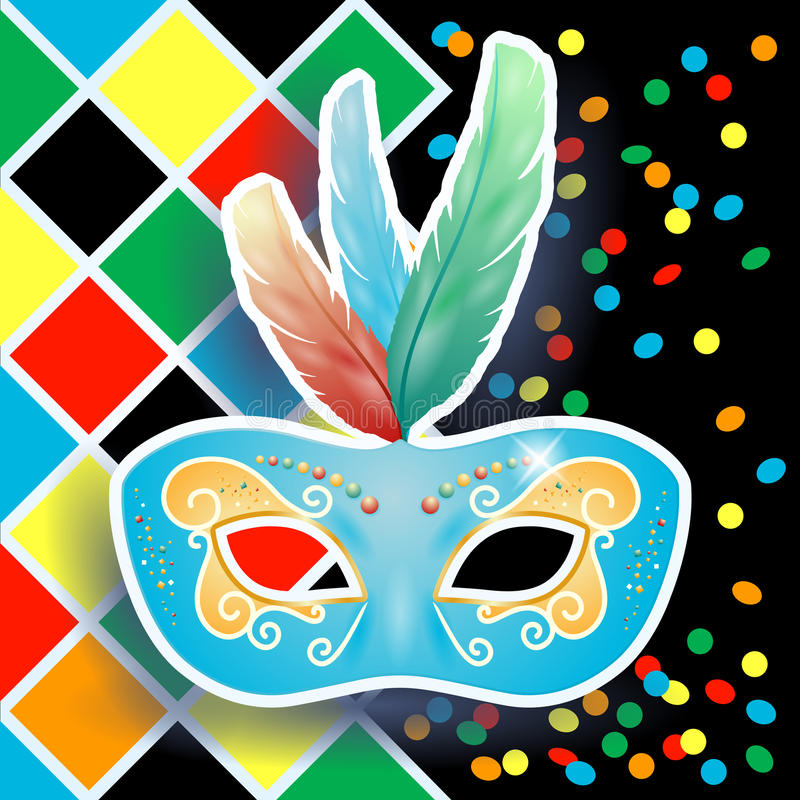 Download Carnival Mask On Harlequin Background Royalty Free Stock Photography - Image: 37732957