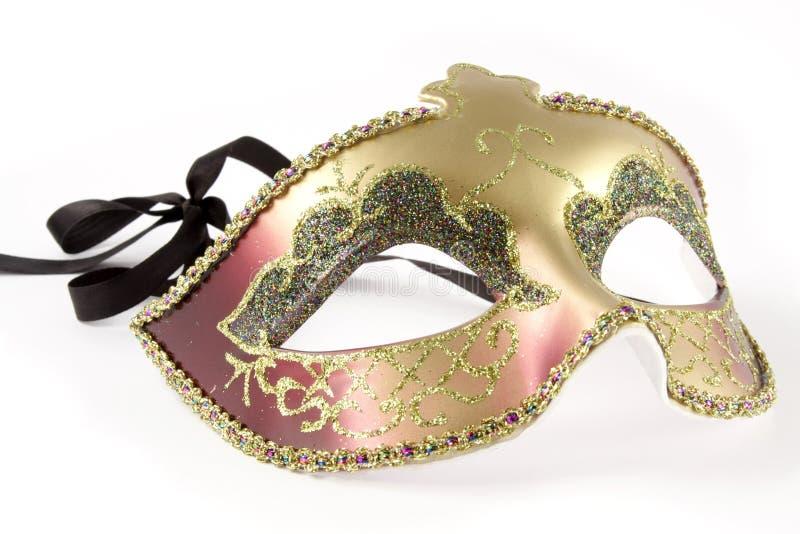 Carnival mask over white stock photo
