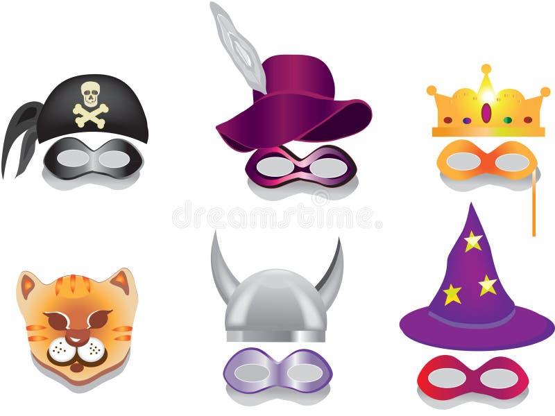 Carnival mask,purim mask. stock illustration