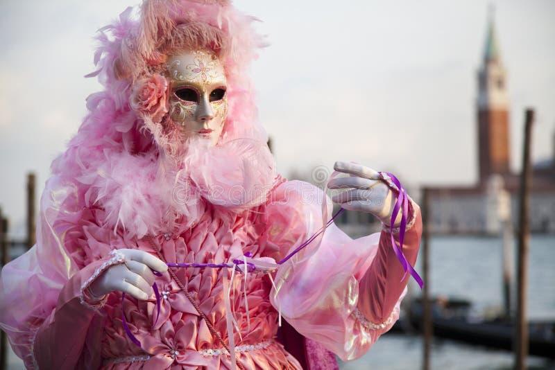 Carnival mask in Venice. In Italy royalty free stock photo