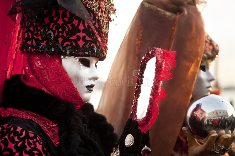 Carnival mask in Venice. Italy royalty free stock photography