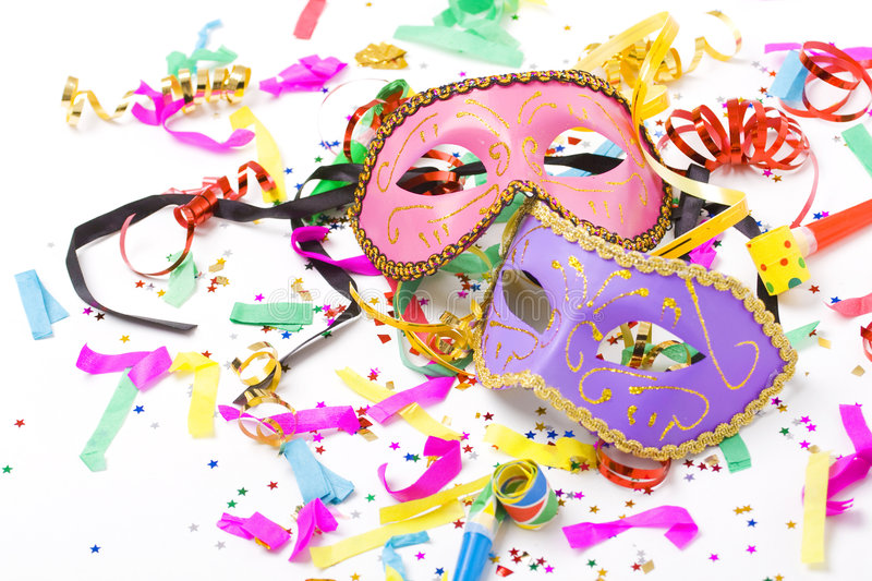 Download Carnival masks stock photo. Image of curly, blowers, decorative - 7515442