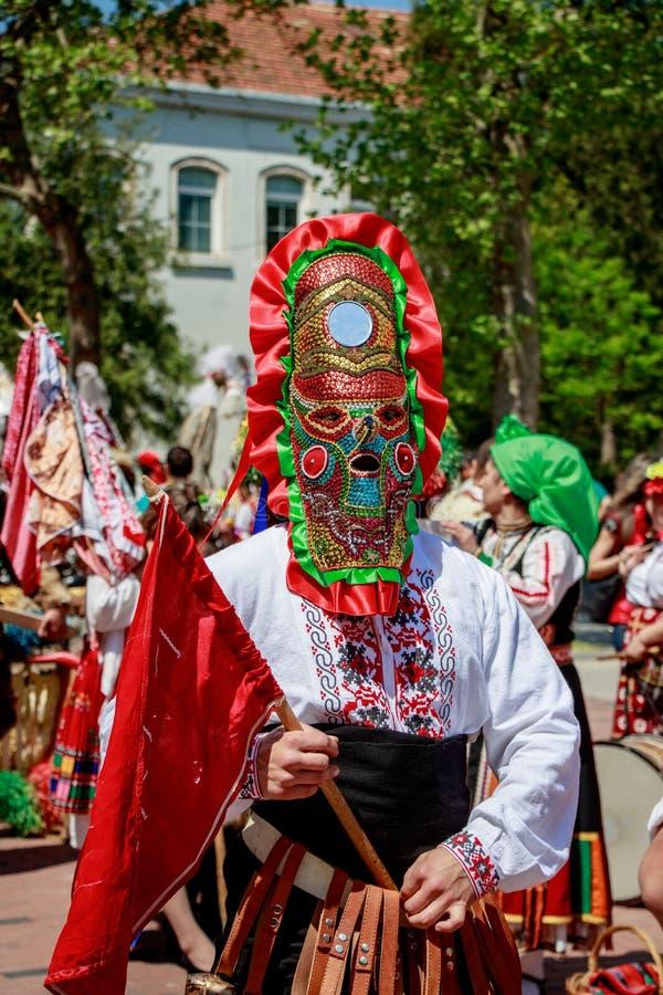 Carnival masks Bulgaria Varna 28.04.2018 stock photos