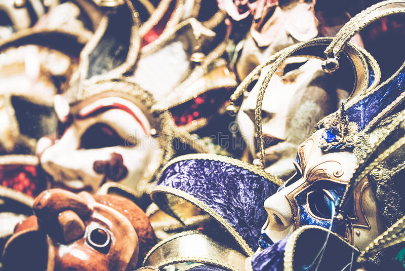 Download Carnival masks stock photo. Image of italy, many, streets - 71639696