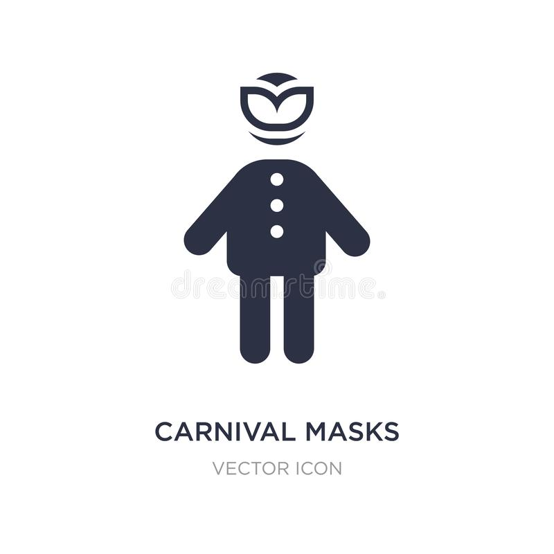 carnival masks icon on white background. Simple element illustration from People concept vector illustration