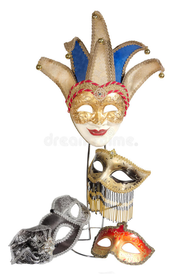 Carnival masks set royalty free stock image