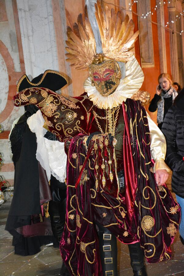 Colorful carnival masks at the  traditional festival in Venice, stock photography