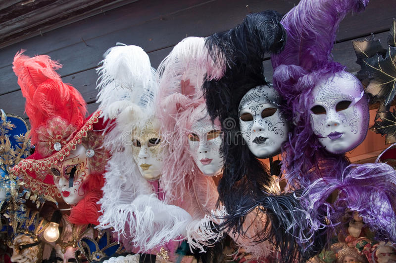 Carnival masks in Venice. Mardi Gras royalty free stock photos
