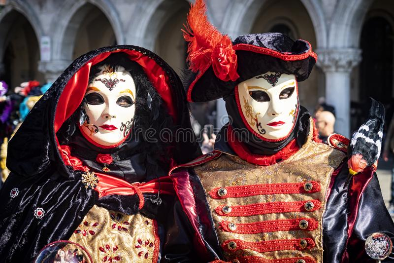 Carnival masks in Venice stock images