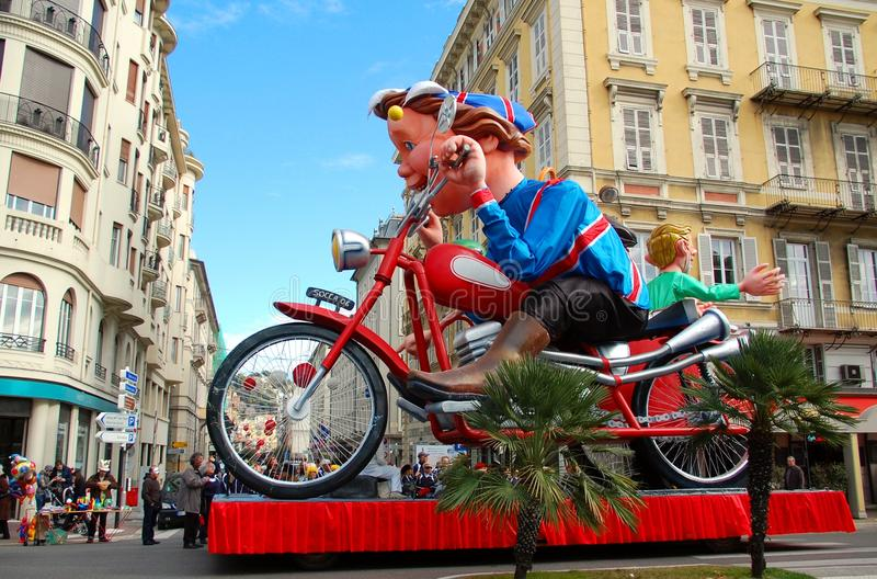 Carnival of Nice on February 21, 2012, France royalty free stock images