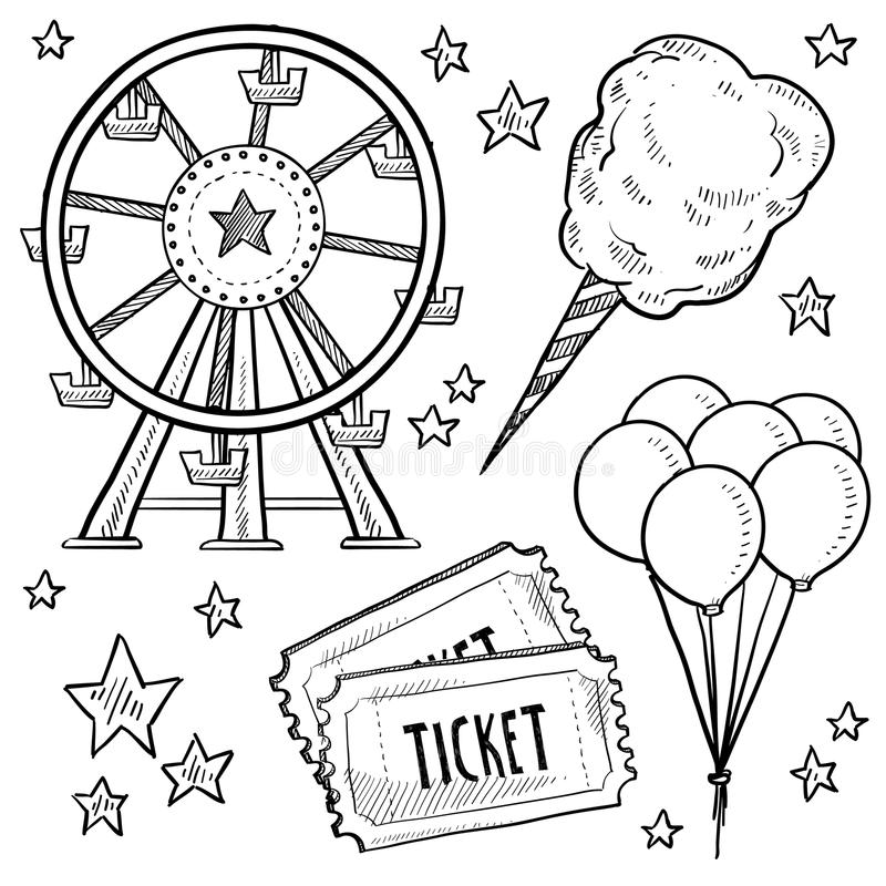 Free Carnival Objects Sketch Royalty Free Stock Photos - 24689718