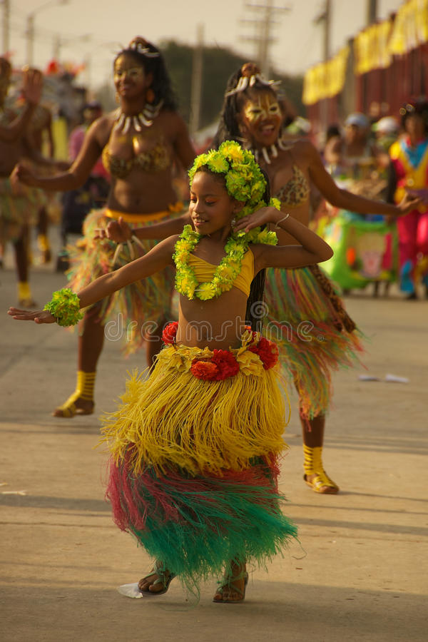 Carnival parade in Barranquilla, Colombia royalty free stock image