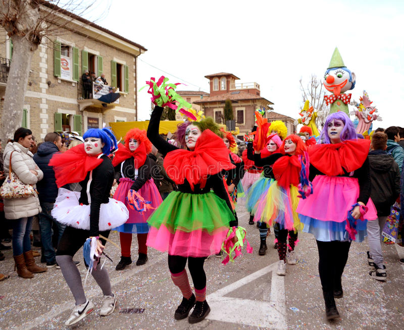 Carnival parade. In the Marche - Italy